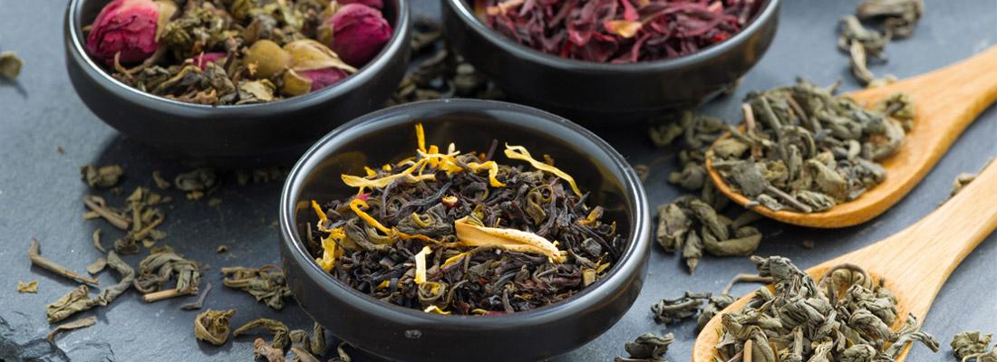 différents thés verts